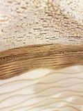 Gouden en witte structuur Stock Fotografie