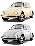 Gouden en zilveren auto Stock Afbeelding
