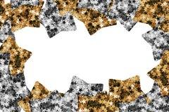 Gouden en zilveren sterren Royalty-vrije Stock Afbeelding