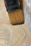 Gouden en Zilveren Verf Stock Fotografie