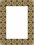 Gouden en zwart kader Stock Afbeelding