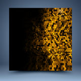 Gouden en zwarte schitter abstract malplaatje Stock Afbeelding