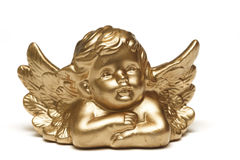 Gouden engel Stock Afbeelding