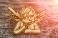 Gouden engelenbeschermer stock fotografie