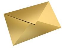 Gouden envelop Royalty-vrije Stock Foto