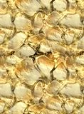 Gouden erts in steentextuur Stock Fotografie