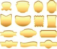 Gouden etiketreeks Stock Afbeelding