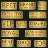 Gouden etiketreeks Royalty-vrije Stock Foto