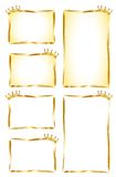 Gouden etiketten Stock Afbeeldingen