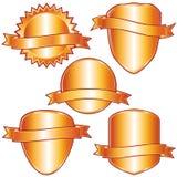 Gouden etiketten en schilden. vector illustratie
