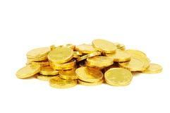 Gouden euro muntstukken Stock Foto's