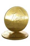 Gouden Euro Muntstukken Royalty-vrije Stock Foto