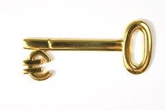 Gouden euro sleutel Stock Foto's