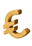 Gouden Euro Symbool Stock Afbeelding