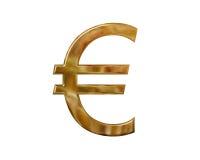 Gouden euro symbool royalty-vrije illustratie