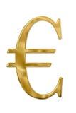 Gouden Euro Teken Royalty-vrije Stock Foto's