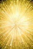 Gouden explosieachtergrond Royalty-vrije Stock Fotografie
