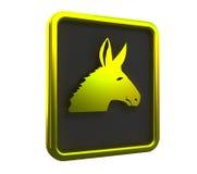 Gouden ezelstegenhanger Stock Foto's