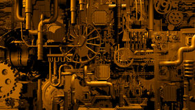 Gouden fabriek Stock Afbeelding