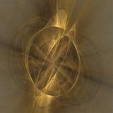 Gouden fantasie abstracte fractal achtergrond Stock Foto