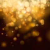 Gouden Feestelijke Kerstmisachtergrond Stock Afbeeldingen