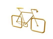 Gouden fiets Royalty-vrije Stock Afbeeldingen