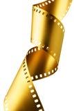 Gouden filmstrook Stock Foto