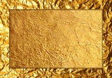 Gouden folie Stock Foto