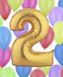 Gouden folieballon Stock Afbeelding