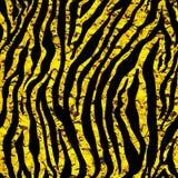 Gouden folietijger of gestreept naadloos patroon Royalty-vrije Stock Afbeelding