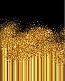 Gouden fonkelingenachtergrond Royalty-vrije Stock Foto's