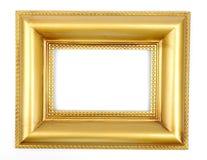 Gouden fotoframe Stock Foto's