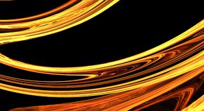 Gouden fractal abstracte achtergrond Royalty-vrije Stock Foto's