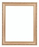 Gouden frame dat op witte achtergrond wordt geïsoleerdT Stock Afbeeldingen