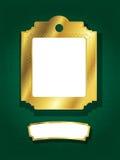 Gouden frame en banner Stock Foto