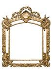 Gouden Frame (inbegrepen weg) Stock Afbeeldingen