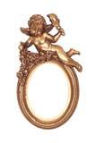 Gouden frame met cupid royalty-vrije stock afbeeldingen