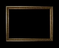 Gouden frame met het knippen van weg royalty-vrije stock afbeelding
