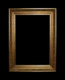 Gouden frame met het knippen van weg Stock Afbeeldingen
