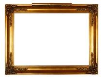 Gouden frame met lamp Stock Foto's