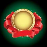 Gouden frame met rood lint Royalty-vrije Stock Foto