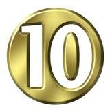 Gouden Frame Nummer 10 Royalty-vrije Stock Foto's