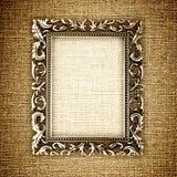 Gouden frame op canvas stock foto's