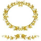 Gouden frame in oude stijl Royalty-vrije Stock Foto's