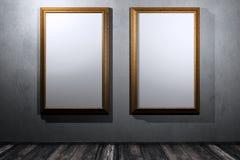 Gouden frame twee Royalty-vrije Stock Foto