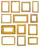 Gouden frames Royalty-vrije Stock Fotografie