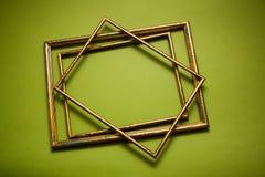 Gouden frames Royalty-vrije Stock Afbeelding
