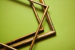 Gouden frames Royalty-vrije Stock Afbeeldingen