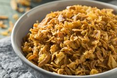 Gouden Fried Onion Bits stock foto