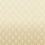 Gouden Gatsby Art Deco Pattern Background Design stock illustratie